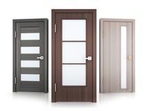 Three doors row Stock Photo