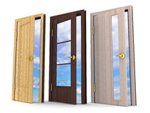 Three doors Stock Photography