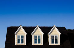 Three dormer windows Royalty Free Stock Photo