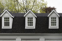 Three dormer windows Royalty Free Stock Image