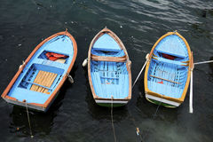 Three dory boats Royalty Free Stock Photos