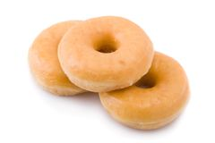 Free Three Doughnuts Or Donuts Piled Royalty Free Stock Photo - 8314515