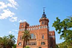 Three Dragons Castle. The Three Dragons Castle in the central urban park of Barcelona, Spain Stock Image