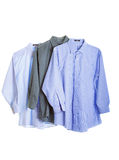 Three Dress Shirts on White Royalty Free Stock Photos