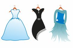Three dresses Stock Images