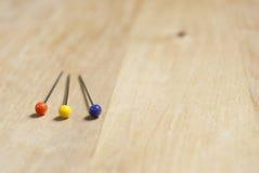 Three Dressmaking Pins - Closeup Royalty Free Stock Photo