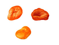 Three dried apricots Royalty Free Stock Photography