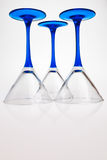 Three drink glasses. Three drink glasses standing up site down Royalty Free Stock Image