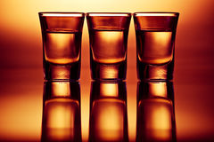 Three drink shots Stock Images