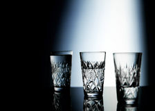 Three drinking glass Stock Photo