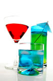 Three drinks Stock Photography
