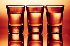 Three drinks Stock Image