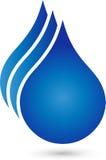 Three drops, water and wellness logo. Three drops in blue, water and wellness logo Stock Image