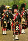 Three Drum Majors, Braemar, Scotland Stock Photography