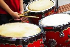 Three drums Stock Image