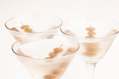 Three Dry Martini Cocktails Top View Royalty Free Stock Image