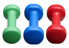 Three Dumbells royalty free stock photography