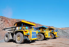Three dump-body truck Royalty Free Stock Images