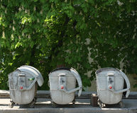 Three dustbin Stock Photography