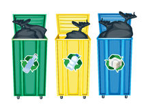 Three dustbins Stock Image