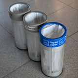 Three dustbins Stock Image