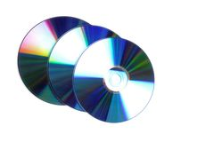 Three dvd's Stock Photo