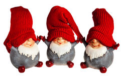Three dwarf toy Stock Photo