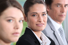 Three dynamic businesspeople Stock Image
