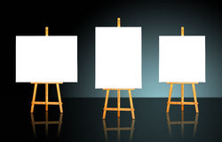 Three Easels Royalty Free Stock Images