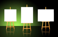 Three Easels Stock Images