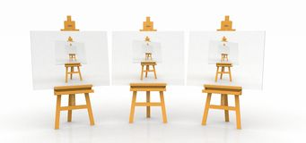 Three easels Royalty Free Stock Photography
