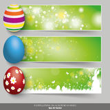 Three Easter Banner With Easter Eggs Royalty Free Stock Photo