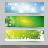 Three Easter Banners Stock Images