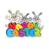 Three Easter Bunny Stock Photography