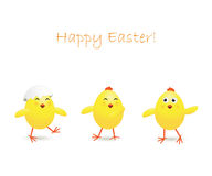 Three Easter chicken Royalty Free Stock Photos