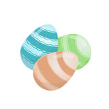 Three easter color eggs Stock Photos