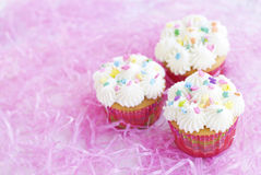 Three Easter Cupcakes Royalty Free Stock Image