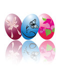 Three Easter Eggs. An illustration of three beautifully painted Easter eggs Stock Photography