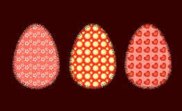 Three Easter eggs 2 Stock Photo