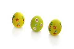 Three Easter eggs Stock Image