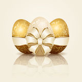 Three Easter eggs Royalty Free Stock Photos