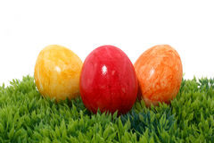 Three Easter eggs Royalty Free Stock Images