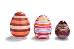 Three easter eggs Royalty Free Stock Photography