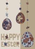 Three easter Eggs Stock Image