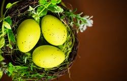 Three easter eggs Stock Photos
