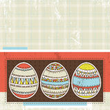 Three easter eggs over color background, vector Stock Image