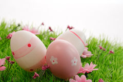 Three Easter eggs Stock Images