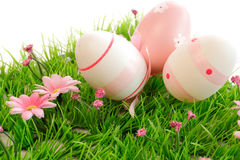 Three Easter eggs Stock Photos