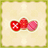 Three easter eggs, vector Stock Photos