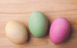 Three easter eggs Stock Photography